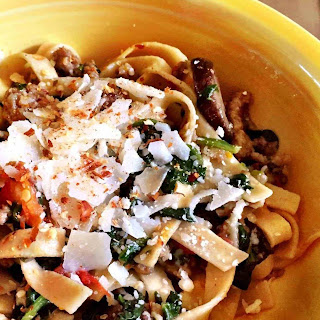 Pasta with Sausage, Veggies and Cheese Recipe