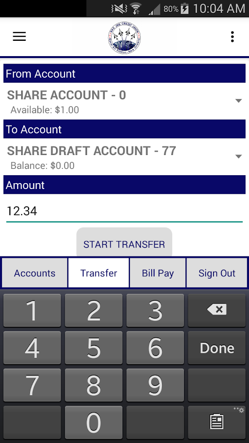 NAS JRB Mobile Banking- screenshot
