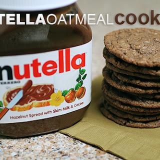 Nutella Oatmeal Cookies.