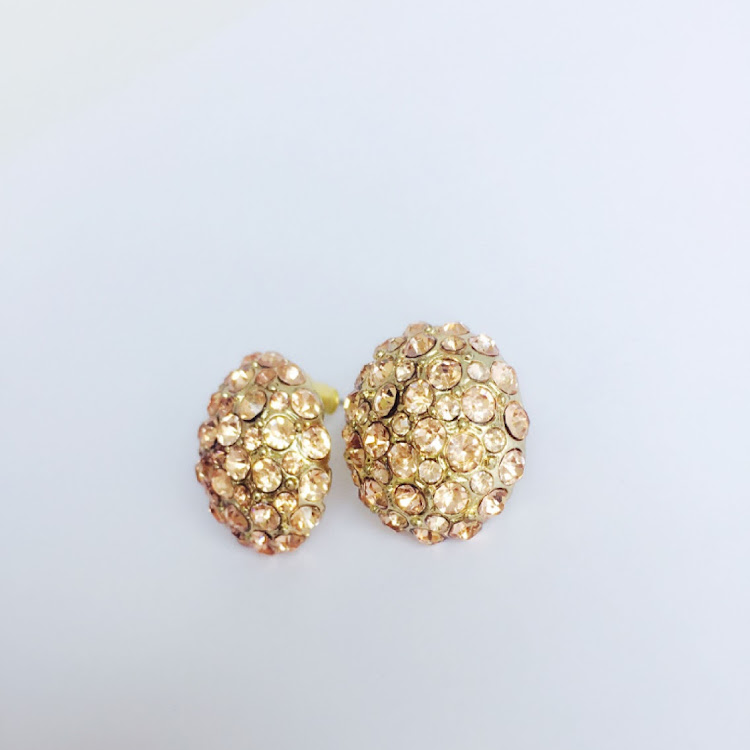 E002 - P. Jeweled Hydrangea Earrings