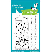 Lawn Fawn Clear Stamps 3X4 - Rain Or Shine Before n Afters
