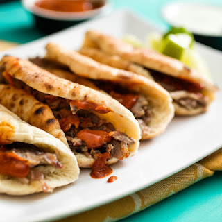 Tacos Árabes (Pita-Wrapped, Cumin-Marinated-Pork Tacos)