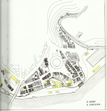 Photo: Plano II A Moureira 1910 En amarelo están os edificios que se conservan