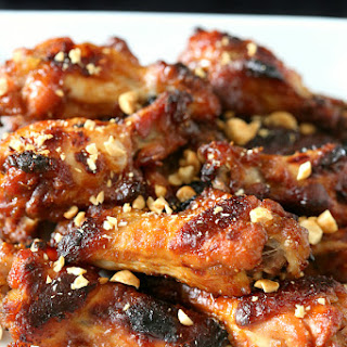 Peanut Butter and Jelly Chicken Wings.