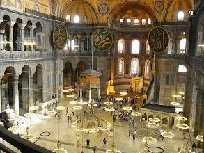 Photo: Az Aya Sophia gigászi belső tere , Emperor Justinianus, Konstantinápoly, Hagia Sophia