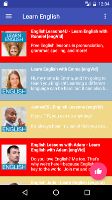 Learn English - screenshot