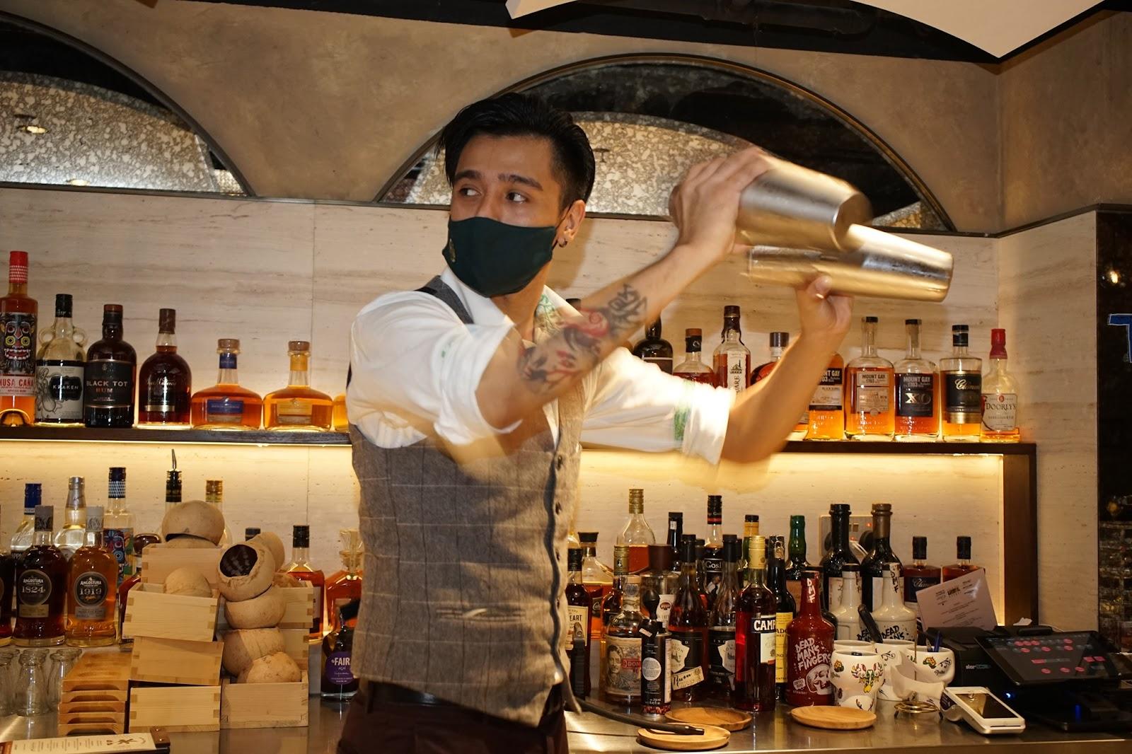 bartender at Hong Kong's The Daily Tot
