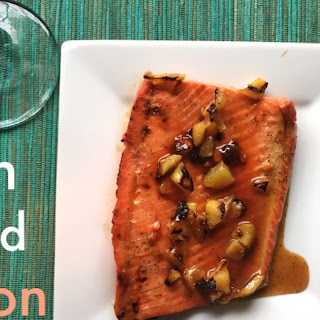 Peach Glazed Salmon.