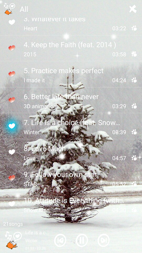 Music Player Frozen Snow Storm