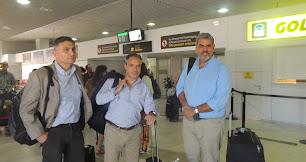 Isaac Alfie, Alejandro Ruibal y Evaristo González.