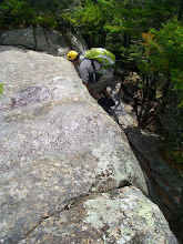 Photo: Dave climbing another steep section.