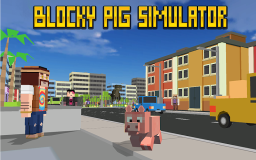 Blocky City Pig Simulator 3D 1.10 screenshots 9