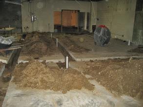Photo: Plumbing has been installed