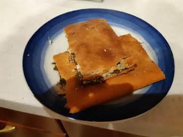 """Greek Fennel & Feta Cheese Pie """"Marathopita"""""""