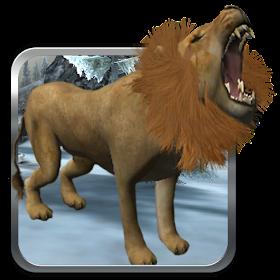 Дикий лев снайпер охотник