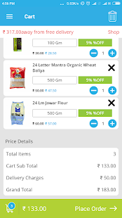 BazaarCart - Online Grocery - náhled