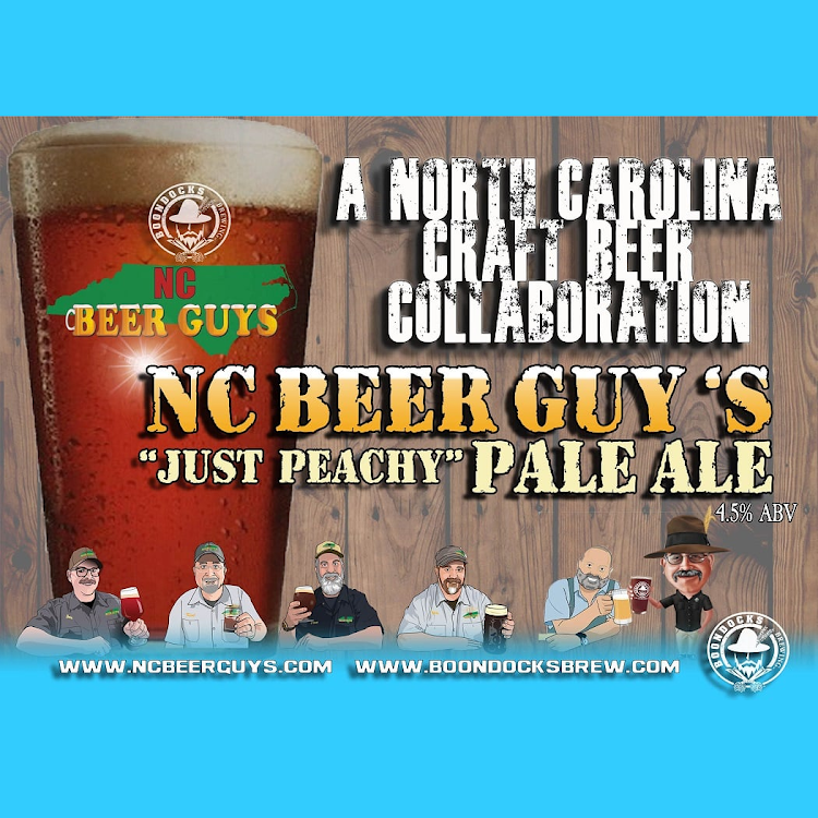 """Logo of NC Beer Guy's Collaboration - """"Just Peachy"""" Pale Ale"""