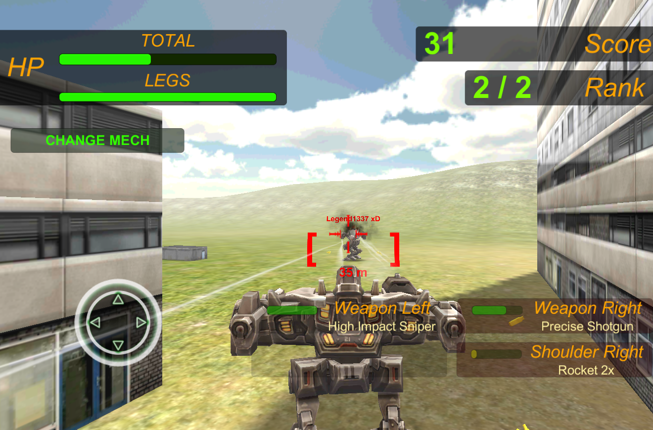 Extreme Battle Mech War- screenshot