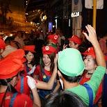 team mario at halloween street party in Hong Kong in Hong Kong, , Hong Kong SAR