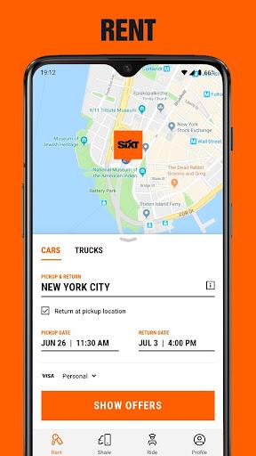 SIXT rent. share. ride. 4.7.1-155 screenshots 2