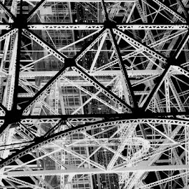 Tokyo Tower by Alan Cline - Abstract Patterns ( abstract, tower, articstic, tv tower, japan, radio antenna, tokyo )