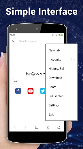 Browser for Android 1.3.3 screenshots 1