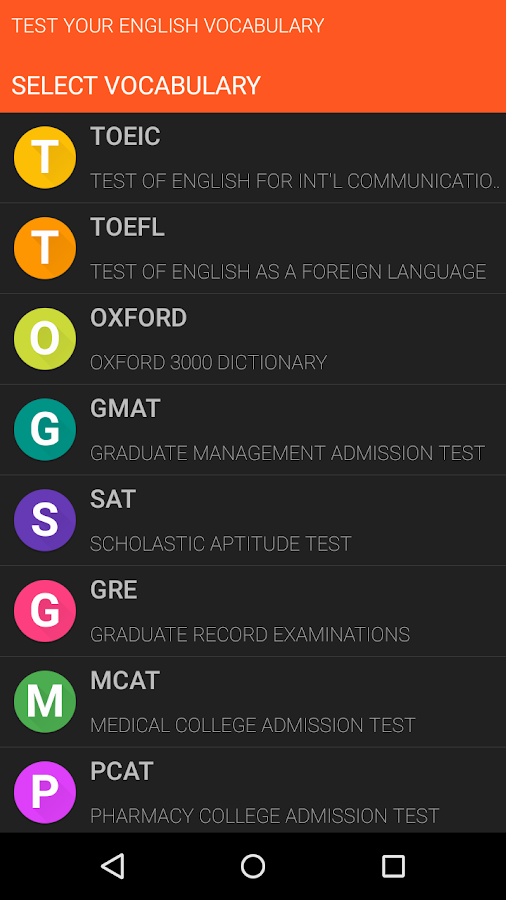 Test Your English Vocabulary- screenshot
