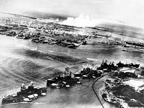 Photo: December 7, 1941: This picture, taken by a Japanese photographer, shows how American ships are clustered together before the surprise Japanese aerial attack on Pear Harbor, Hawaii, on Sunday morning, Dec. 7, 1941. Minutes later the full impact of the assault was felt and Pearl Harbor became a flaming target. (AP Photo)
