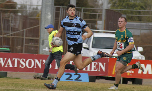 Narrabri Blue Boars first grade inside centre Jake Packer scored two of his side's six tries in a bonus point win against Inverell on Saturday afternoon at Dangar Park.