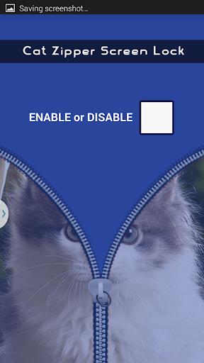 Cat Kitten Zipper Screen Lock