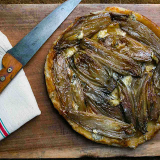 Caramelized Endive and Blue Cheese Tart.