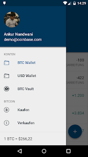 Bitcoin Wallet - Coinbase Screenshot