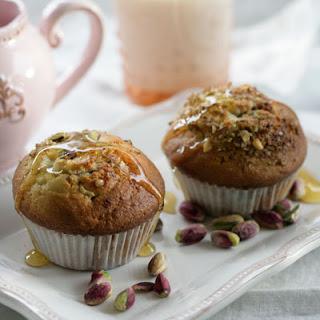 Baklava Muffins with Olive Oil, Greek Yogurt and Honey