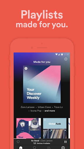 Screenshot for Spotify: Discover new music, podcasts, and songs in United States Play Store