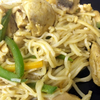 Singapore Chicken Noodles.