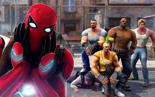 Superhero Ninja Battle: Streets Fighting Robot Socem 25 Screenshots 9