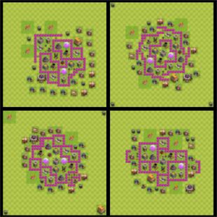 Town Hall 6 Farming Base Layout - náhled