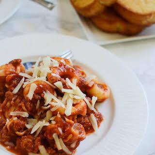 Slow Cooker Cheesy Tortellini.