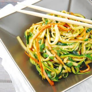 Zucchini Miso Ponzu Noodles.