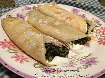 Sweet And Savory Spinach Crepes Recipe