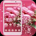 Pink Flower Theme pink love APK