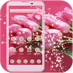 Pink Flower Theme pink love Icon