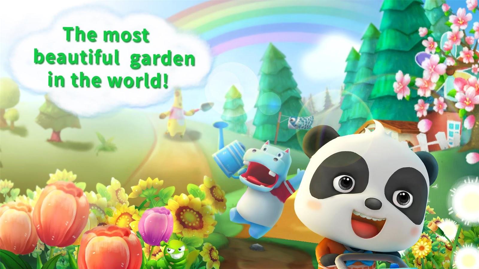 Flower garden pictures - Baby Panda S Flower Garden Screenshot