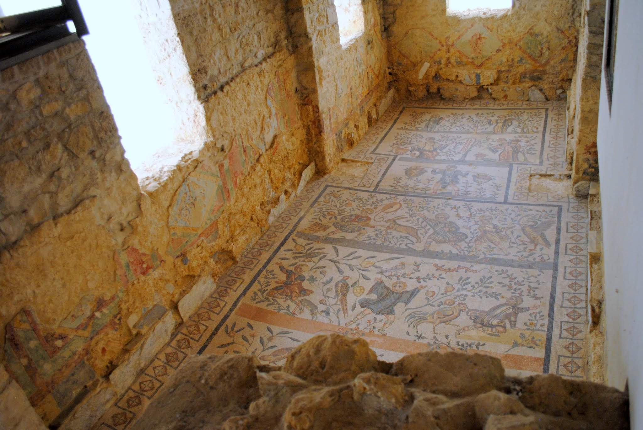 My Photos: Italy -- Mosaics -- Sicily -- Piazza Armerina -- The Cubicle of the Little Hunt Mosaic