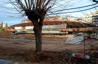 Photo: Derribo y reforma del que fue Canódromo Meridiana. Estado de las obras el 29 de diciembre de 2009