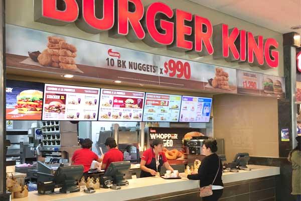 instalación de gráficas locales burger king