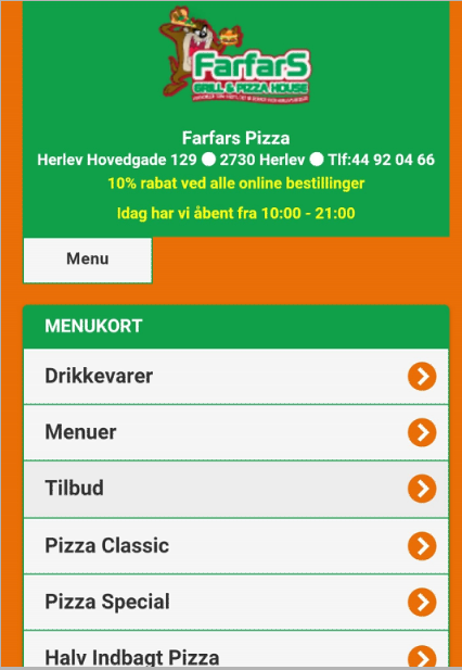 Farfars Grill & Pizza House- screenshot