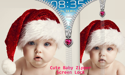 Cute Baby Zipper Screen Lock
