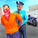 US Police Moto Bike Gangster Crime Chase Shooting icon