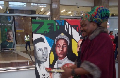 Rasta comes under fire for painting of Zozibini Tunzi at official homecoming - TimesLIVE